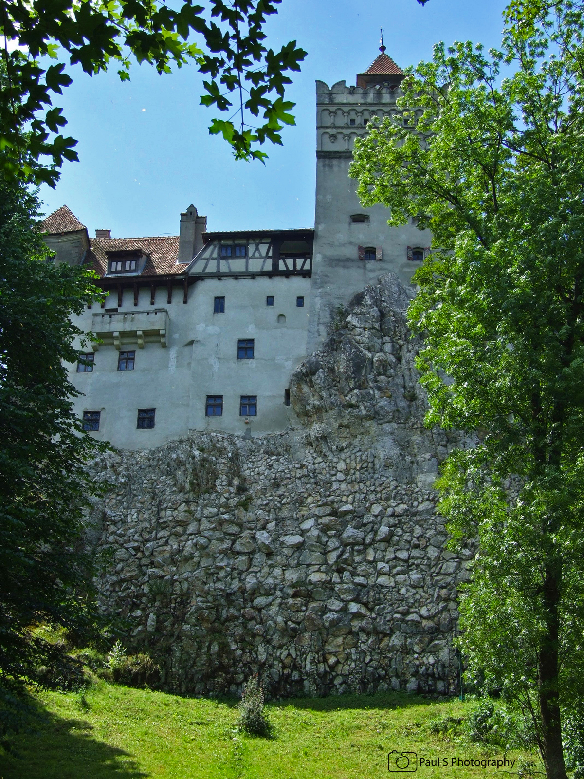 bran castle view from the garden